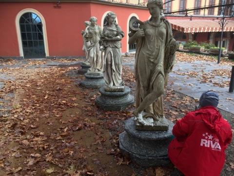 restauro statue villa d'este cernobbio como